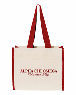 Alpha Chi Omega Tote with Contrast-Color Handles