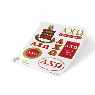 Alpha Chi Omega Traditional Sticker Sheet