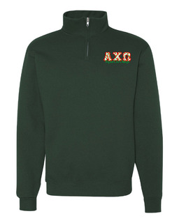 Alpha Chi Omega Twill Greek Lettered Quarter zip
