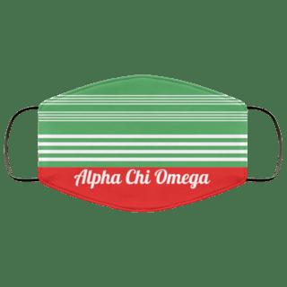 Alpha Chi Omega Two Tone Stripes Face Mask