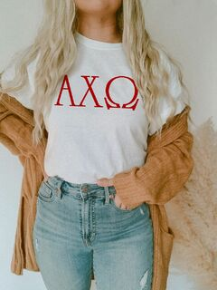 Alpha Chi Omega University Greek T-Shirts