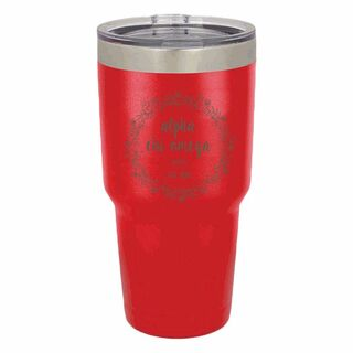 Alpha Chi Omega Vacuum Insulated Floral Tumbler