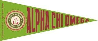 Alpha Chi Omega Wall Pennants