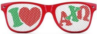 Alpha Chi Omega Wayfarer Style Lens Sunglasses