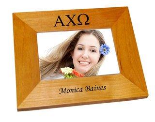 Alpha Chi Omega Wood Picture Frame