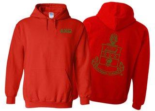 Alpha Chi Omega World Famous Crest - Shield Hooded Sweatshirt- $35!