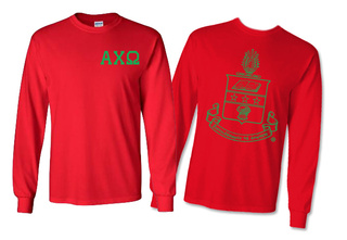 Alpha Chi Omega World Famous Crest Long Sleeve T-Shirt- $19.95!- MADE FAST!