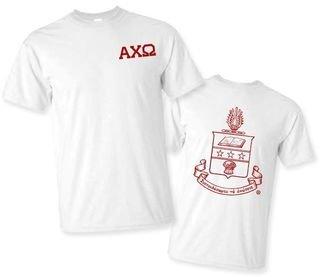 Alpha Chi Omega World Famous Greek Crest T-Shirts - - MADE FAST!