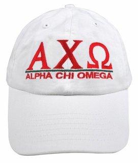 Alpha Chi Omega World Famous Line Hat - MADE FAST!