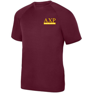 Alpha Chi Rho- $15 World Famous Dry Fit Wicking Tee