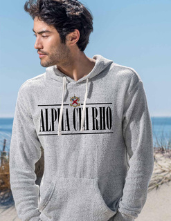 Alpha Chi Rho Line Crest Lucas Loop Fleece Hood