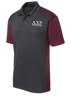 Alpha Chi Rho- $30 World Famous Greek Colorblock Wicking Polo