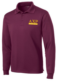 Alpha Chi Rho- $30 World Famous Long Sleeve Dry Fit Polo