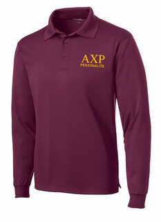 Alpha Chi Rho- $35 World Famous Long Sleeve Dry Fit Polo