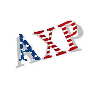 "Alpha Chi Rho American Flag Greek Letter Sticker - 2.5"" Tall"