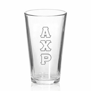 Alpha Chi Rho Big Letter Mixing Glass