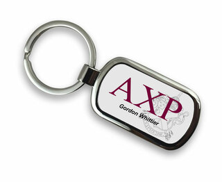 Alpha Chi Rho Chrome Crest - Shield Key Chain