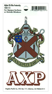 Alpha Chi Rho Crest - Shield Decal