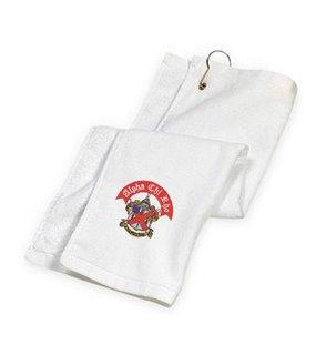 DISCOUNT-Alpha Chi Rho Crest - Shield Golf Towel