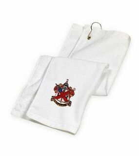 DISCOUNT-Alpha Chi Rho Crest - Shield Golf Towel