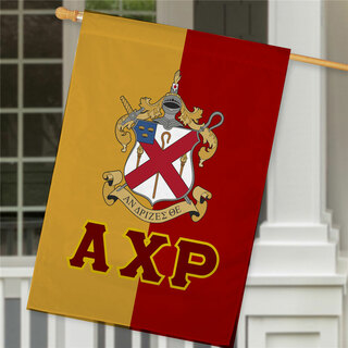 Alpha Chi Rho Crest House Flag