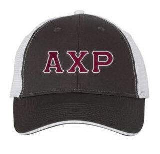 Alpha Chi Rho Double Greek Trucker Cap