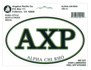 Alpha Chi Rho Euro Decal Oval Sticker