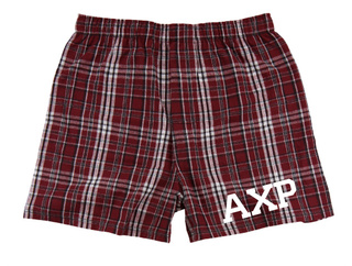 Alpha Chi Rho Flannel Boxer Shorts