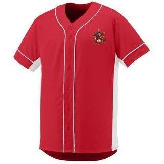 DISCOUNT-Alpha Chi Rho Fraternity Crest - Shield Slugger Baseball Jersey