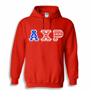 Alpha Chi Rho Greek Letter American Flag Hoodie