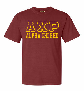 Alpha Chi Rho Greek Outline Comfort Colors Heavyweight T-Shirt