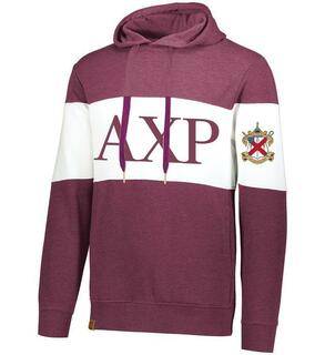 Alpha Chi Rho Ivy League Hoodie W Crest On Left Sleeve