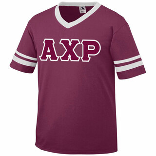 DISCOUNT-Alpha Chi Rho Jersey With Greek Applique Letters