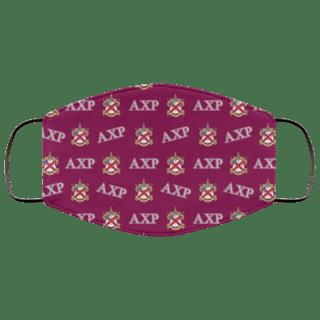 Alpha Chi Rho Letter Crest Face Masks