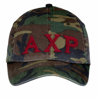 Alpha Chi Rho Lettered Camouflage Hat