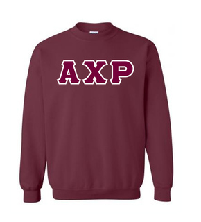 Alpha Chi Rho Lettered Crewneck Sweatshirt