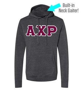 Alpha Chi Rho Lettered Gaiter Fleece Hooded Sweatshirt