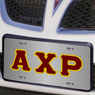 Alpha Chi Rho Lettered License Cover
