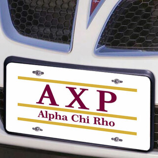 Alpha Chi Rho Lettered Lines License Cover
