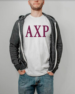 Alpha Chi Rho Lettered Tee - $9.95