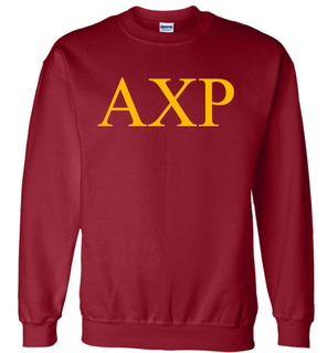 Alpha Chi Rho Lettered World Famous Greek Crewneck