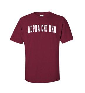 Alpha Chi Rho letterman tee