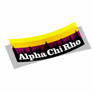Alpha Chi Rho Mountain Decal Sticker