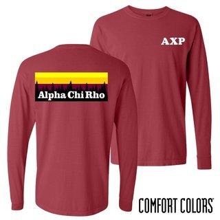 Alpha Chi Rho Outdoor Long Sleeve T-shirt - Comfort Colors