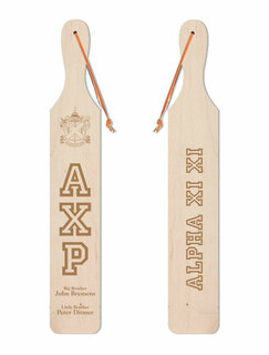 Alpha Chi Rho Old School Wood Greek Paddle