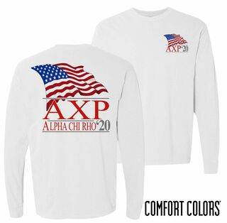Alpha Chi Rho Patriot Long Sleeve T-shirt - Comfort Colors