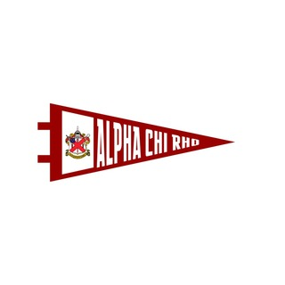 "Alpha Chi Rho Pennant Decal 4"" Wide"