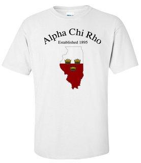 Alpha Chi Rho State Flag T-shirt