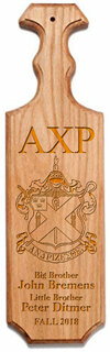 Alpha Chi Rho Traditional Greek Paddle