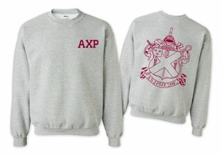 Alpha Chi Rho World Famous Crest - Shield Crewneck Sweatshirt- $25!